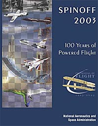 Spinoff magazine cover for 2003