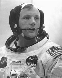 Armstrong suits up for Apollo 11 launch