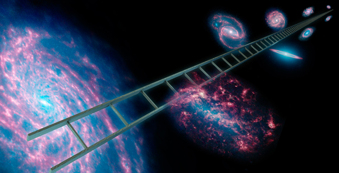 Astronomers using NASA's Spitzer Space Telescope have greatly improved the cosmic distance ladder used to measure the expansion rate of the universe, as well as its size and age