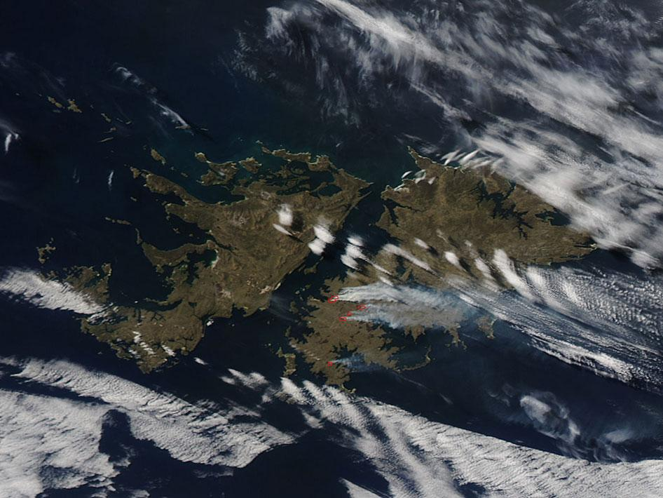Fires on the Falkland Islands