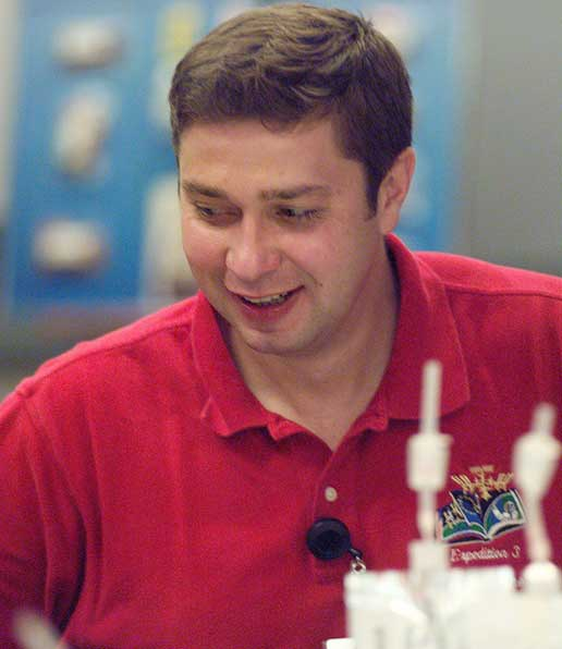 Cosmonaut Konstantin Koseev participating in food tasting