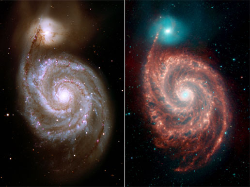 Spitzer image of Whirlpool Galaxy