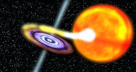 Still from new black hole video