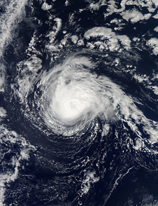 visible light image of Nadine over the Atlantic