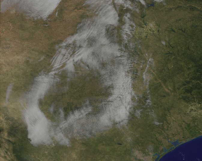 satellite image of Texas fog ring