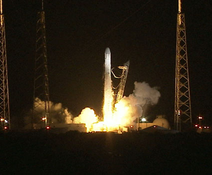 Liftoff of the SpaceX Falcon 9