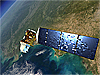 An artist's rendition of the Landsat satellite