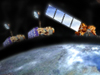 artist concept of satellites in Earth orbit