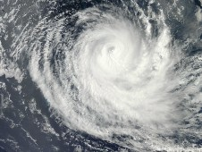 MODIS captured this visible image of Tropical Cyclone Anais off Madagascar on Oct. 15.