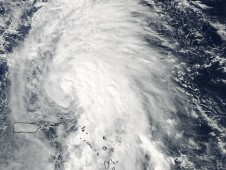 MODIS captured this visible image of Rafael in the Atlantic Ocean on Oct. 14, 2012 at 1720 UTC (1:20 p.m. EDT)