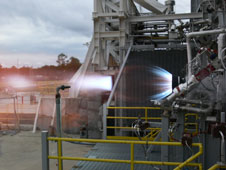 Blue Origin test fires its BE-3 engine thrust chamber