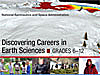 The words Discovering Careers in Earth Sciences Grades 6-12 over Earth science-related pictures