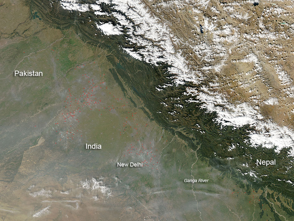 Fires in India