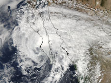 MODIS image of Paul