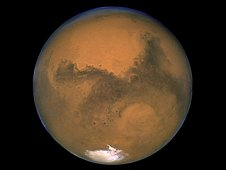 NASA's Hubble Space Telescope took this close-up of Mars, the Red Planet, when it was just 34,648,840 miles (55,760,220 kilometers) away from Earth. Mars is just one of the potential destinations for long duration exploration that may benefit from the use of the International Space Station as a technology test bed.  (NASA)