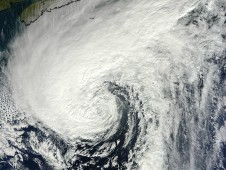 Visible image of Hurricane Rafael in the North Atlantic taken by MODIS on Oct. 17