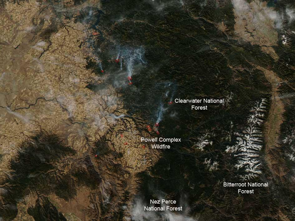 Fires in Idaho