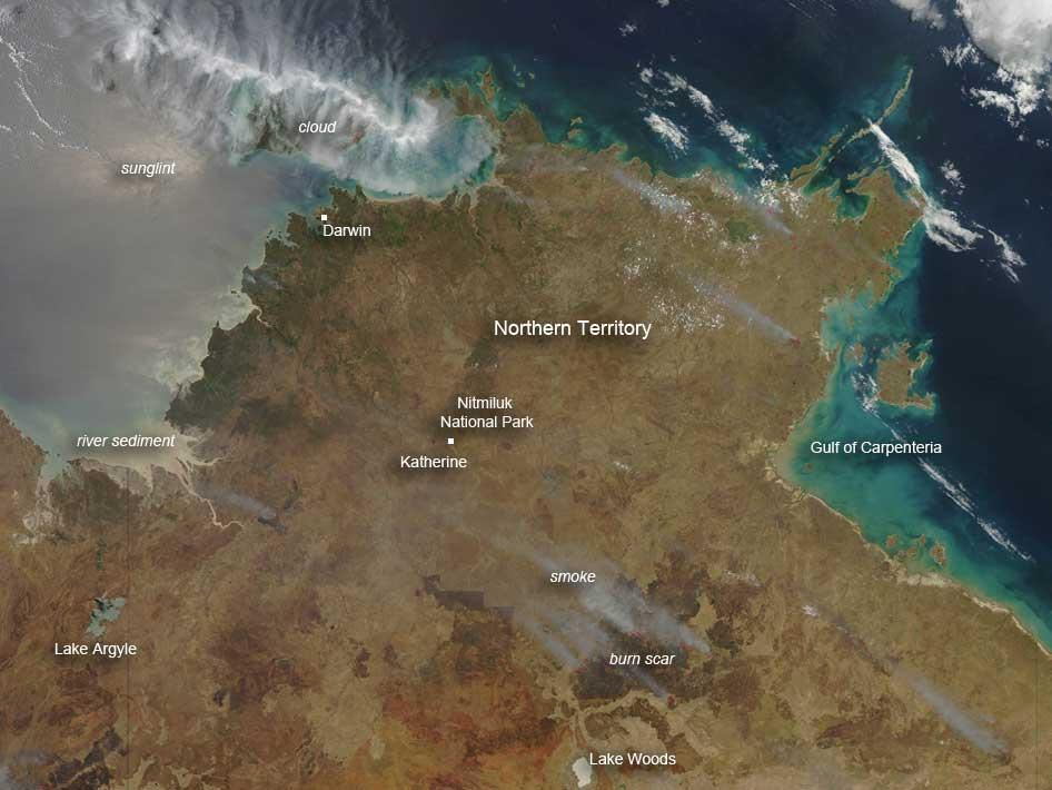Fires in Australia's Northern Territory