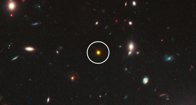 Hubble image of a quasar