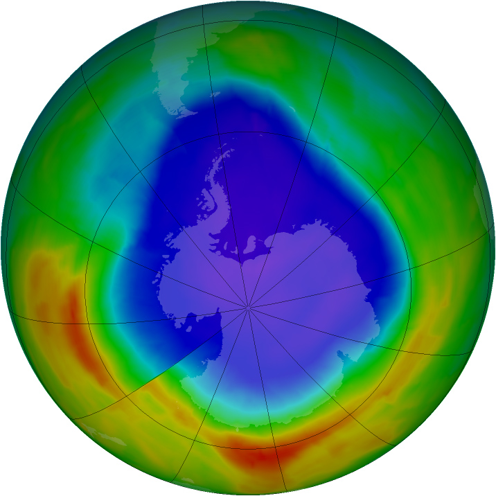 image of ozone hole NASA
