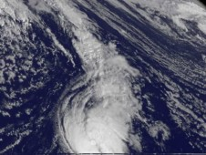 On Oct. 24 at 7:45 a.m. EDT, GOES-13 captured Tony and revealed that Tony is relatively small as it moves through the central Atlantic.