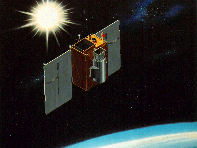 Artist's depiction of the SAMPEX satellite