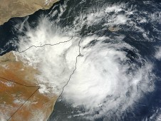 On Oct. 25, 2012 at 0720 UTC (2:20 a.m. EDT) MODIS captured a visible image of Murjan making landfall on the Horn of Africa