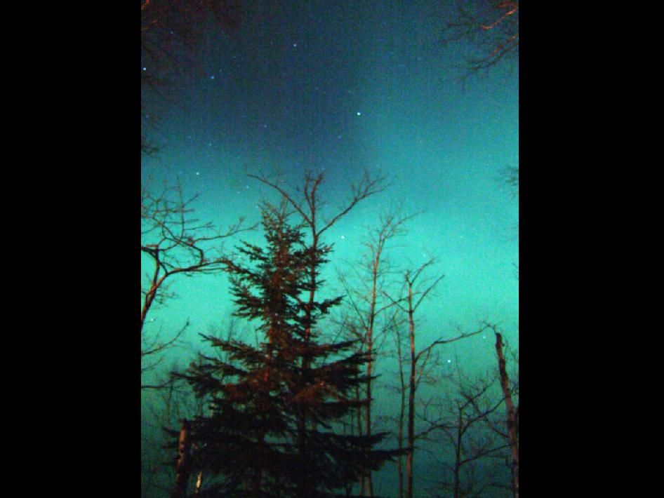Aurora seen in Marquette, Mich. on Jan. 7, 2005.