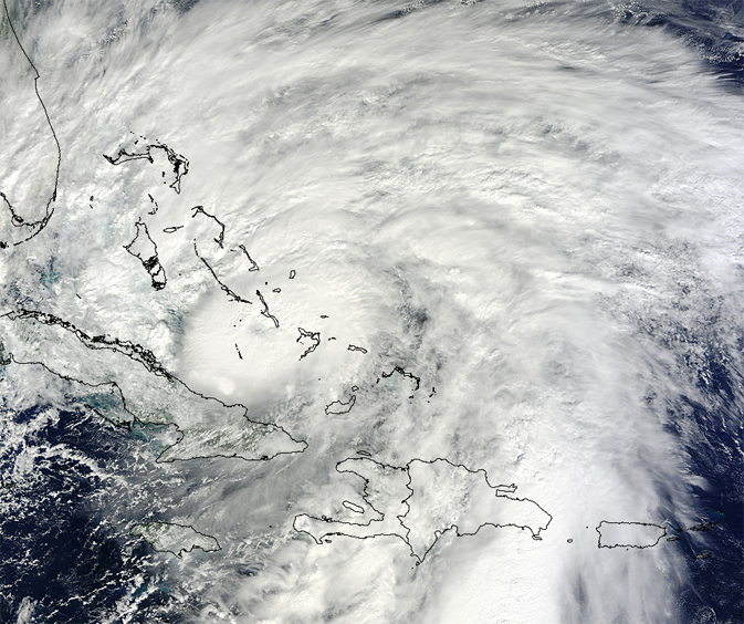 satellite image of Sandy