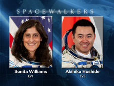 Spacewalkers Sunita Williams and Akihiko Hohide
