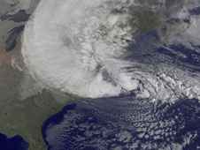 visible image of hurricane sandy over the Atlantic