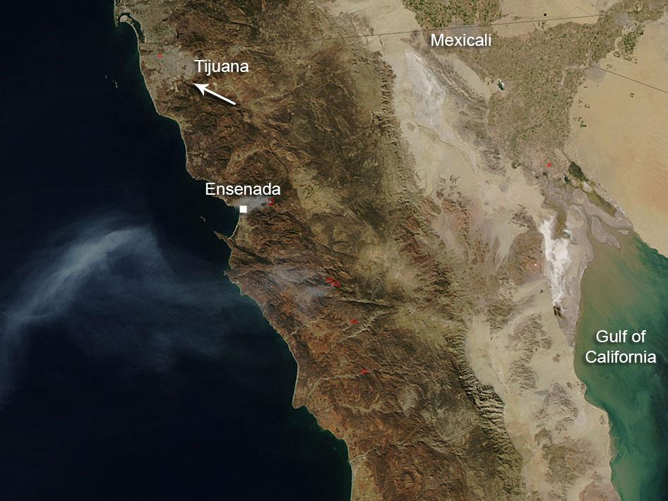 Fires in Baja California