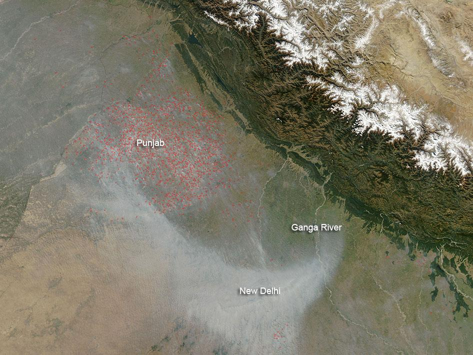 Fires in Northern India