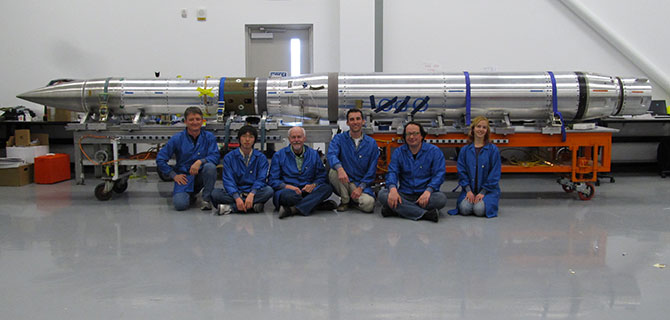 Image of FOXSI's science payload team