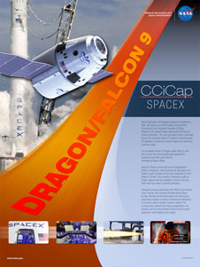 NASA's CCiCap poster for SpaceX