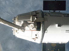 SpaceX Dragon unberthing