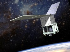 Artist rendering of the Ball smallsat, set to carry the Green Propellant Infusion Mission to space for flight-testing in 2015.