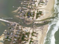 Photo of New Jersey coastal town of Mantoloking was taken by NOAA on October 31, 2012