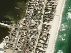 Photo of New Jersey coastal town of Mantoloking was taken by NOAA on March 18, 2007