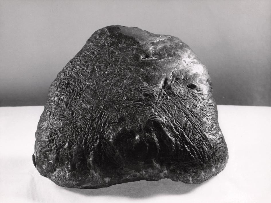 Iron and nickel meteorite found near Fort Stockton, Texas in 1952