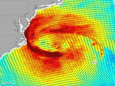 Sandy�s winds produced with data from a radar scatterometer on Oceansat-2