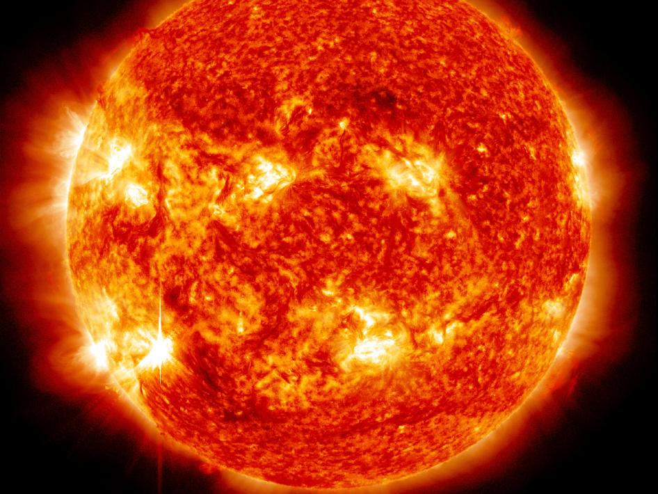 The sun emitted an M6 solar flare on Nov. 13, 2012.