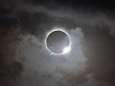 A total solar eclipse was visible from the Northern tip of Australia on Nov. 13, 2012 at 3:35 EST.