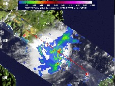NASA's TRMM satellite flew over Tropical Depression 25W on Nov. 14 at 0133 UTC and captured rainfall rate data.