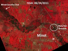 ISSAC image of flooding in Minot, N.D., on June 24, 2011.  (UND UMAC)