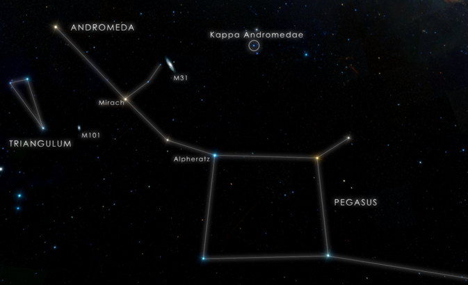 star chart showing Kappa Andromedae location
