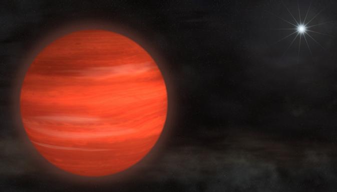 artist's rendering of 'super-Jupiter' Kappa Andromedae b