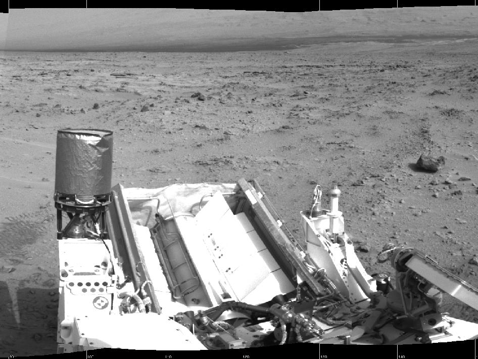 NASA's Mars rover Curiosity drove 6.2 feet (1.9 meters) during the 100th Martian day, or sol, of the mission (Nov. 16, 2012).