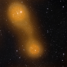 Two galaxy clusters