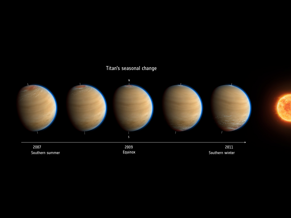 Artist's impression of Saturn's moon Titan
